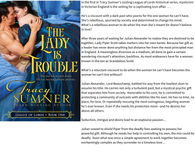 The lady is trouble graphic